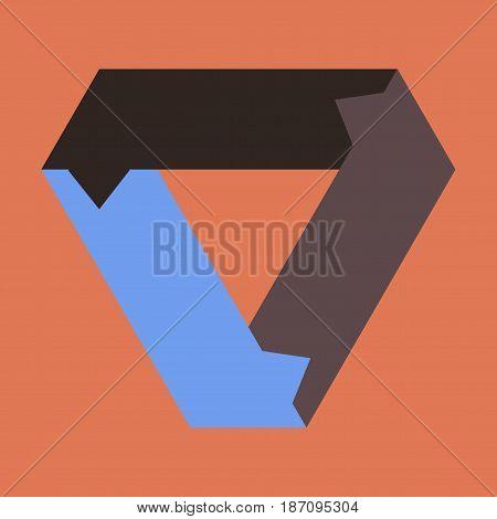 flat icon on stylish background Arrows business