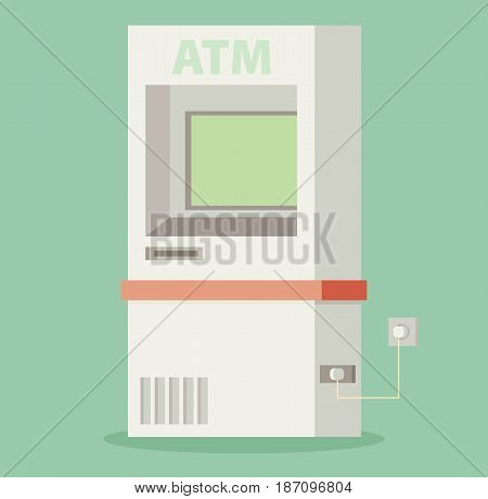 ATM machine - vector colorful flat illustration
