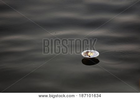 Light floating on Indian river