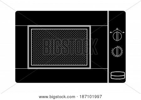 Microwave icon. Vector illustration isolated on white background.