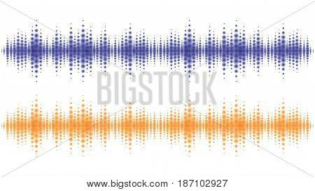 Sound waves light effect. Music digital equalizer.