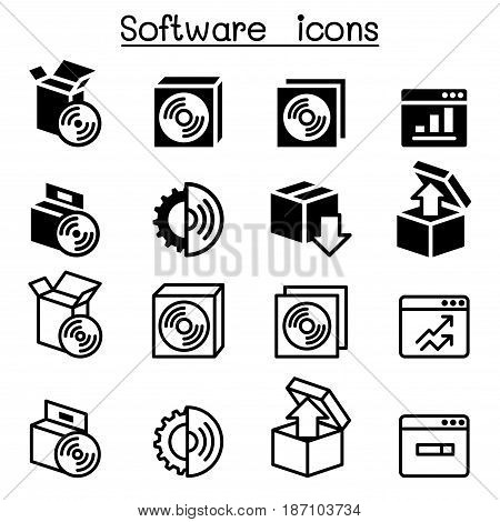Setup configuration maintenance & Installation icon Software & Application Vector illustration Graphic design