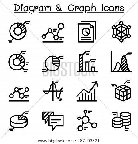 Data Diagram Graph Infographic icon set Vector illustration Graphic design