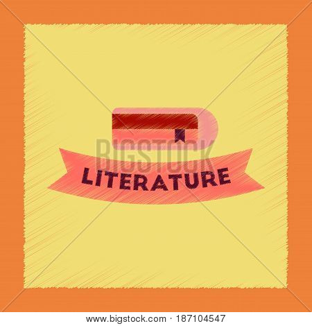 flat shading style icon of Literature lesson
