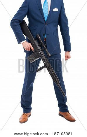 Unknown Salesman With Big Weapon