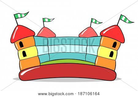 Inflatable bouncy castle for jumping on children birthday party