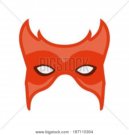 colorful silhouette of carnival mask vector illustration