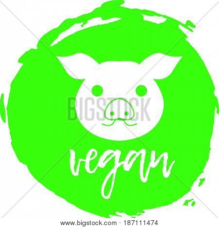 Vegan Free Label. Food Intolerance Symbols. Vector Illustration