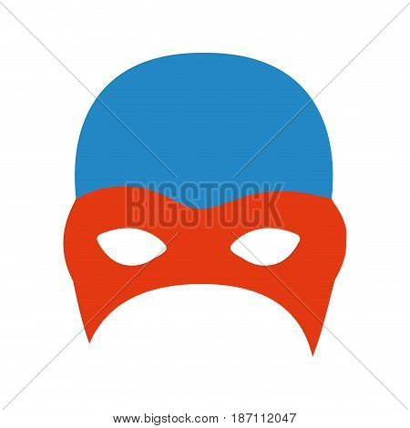 colorful silhouette of fighter mask vector illustration