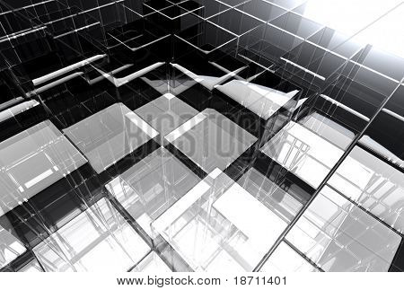 abstract glass structure