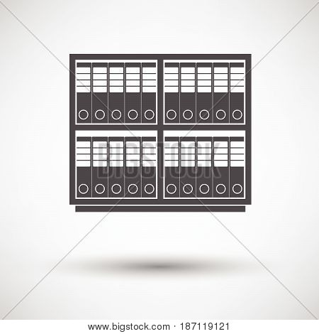 Office Cabinet With Folders Icon