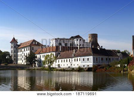 Jindrichuv Hradec castle in South Bohemia Czech Republic