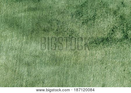 Dirty Green Textile Rag Texture.