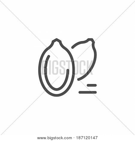Seeds line icon isolated on white. Vector illustration