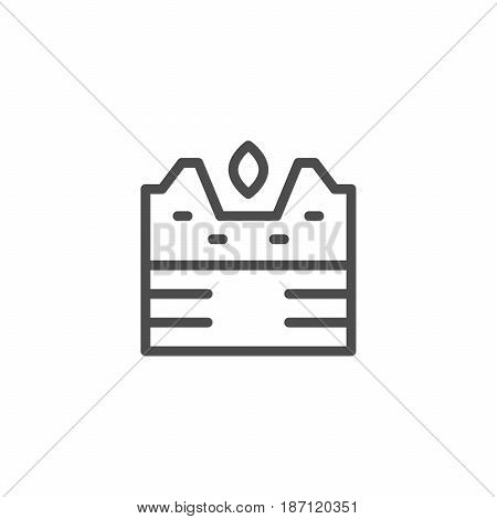 Seeding line icon isolated on white. Vector illustration