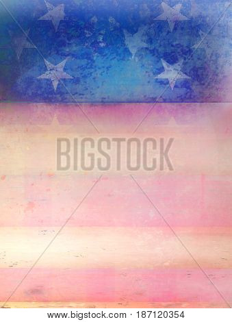 Grungy abstract american flag frame , raster
