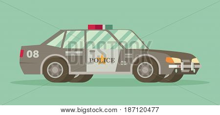 Police car with the sheriff's star on the door.