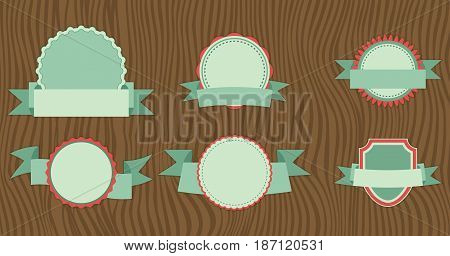 Flat design of Web Stickers Tags Banners and Labels collection