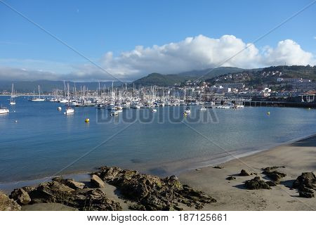 image of the Baiona port in Spain