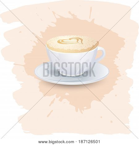 Coffee cappuccino background or banner flayer web print template. Good for menu cafe advert