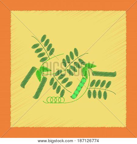 flat shading style illustration of natural pisum