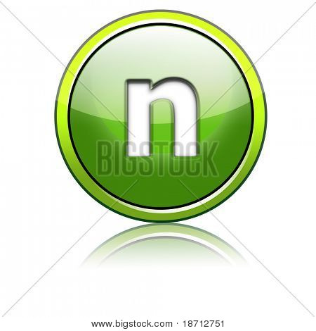 grün 3d Buchstaben
