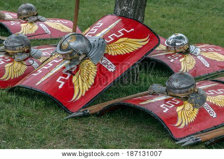 Type of Roman ancient weapon used in battles.