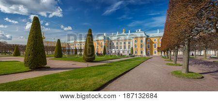 St.Petersburg, Russia - May 3, 2014: Peterhof Palace