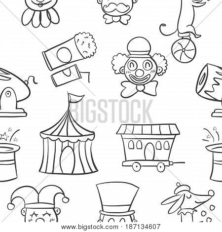 Hand draw object circus of doodles vector art
