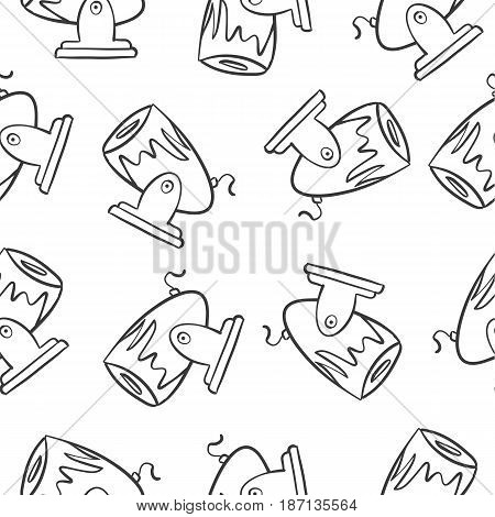 Object circus of doodle style vector art