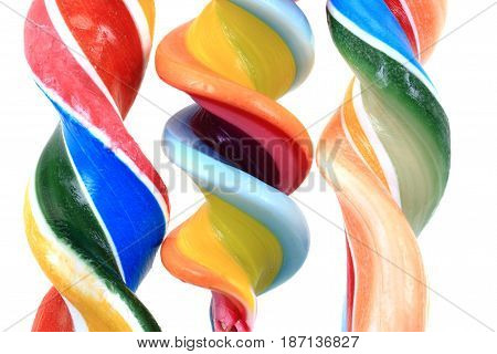 Color Lolly Pops Isolated