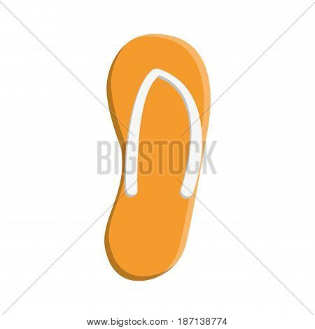 beach sandals icon over white background. colorful design. vector illustration