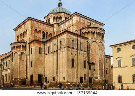 Duomo Cathedral In Parma, Italy.