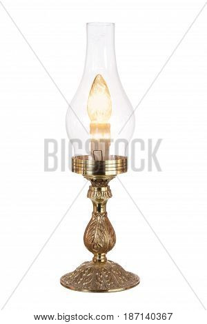 Table Lamp on an Isolated White Background