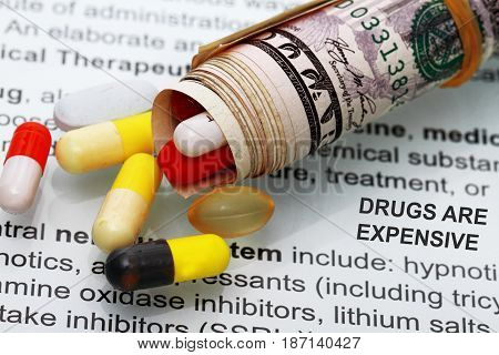 Medicines Costs Money Abstract