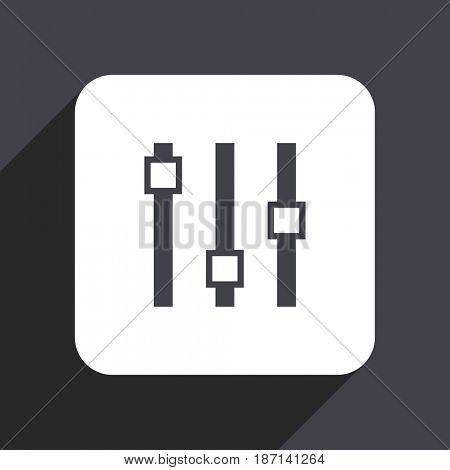 Slider flat design web icon isolated on gray background