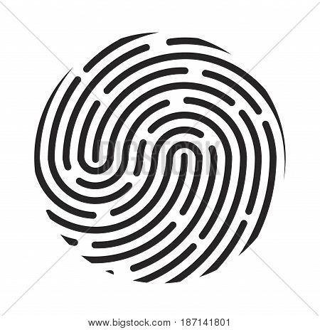 Fingerprint Logo Vector Symbol Icon Design.