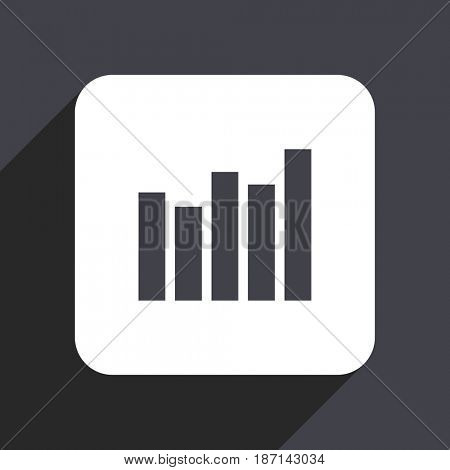Graph flat design web icon isolated on gray background