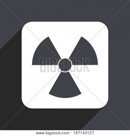 Radiation flat design web icon isolated on gray background