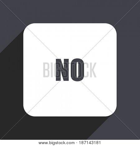 No flat design web icon isolated on gray background