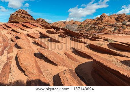 Mountain around The Wave in Paria Canyon-Vermilion Cliffs
