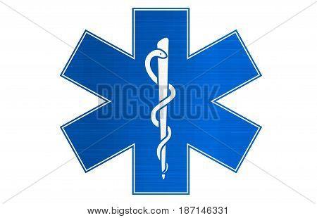 medical snake blue sign , illustration  snake