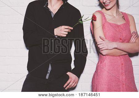Man Giving Rose