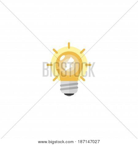 Flat Idea Element. Vector Illustration Of Flat Arise Isolated On Clean Background. Can Be Used As Arise, Idea And Light Symbols.