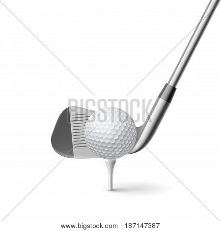 Golf Club and Golf Ball Isolated on White Background