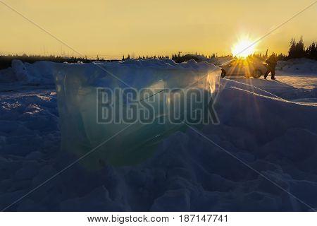 Landscape Of Alaska During Sunset In The Winter