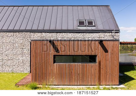 Eco-friendly Stone House With Garage