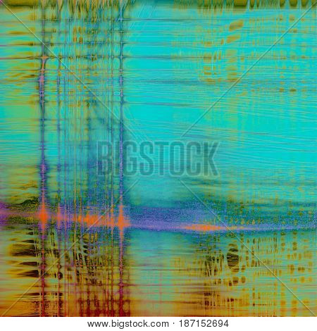 Abstract grunge background or aged texture. Old school backdrop with vintage feeling and different color patterns: yellow (beige); green; blue; red (orange); purple (violet); cyan
