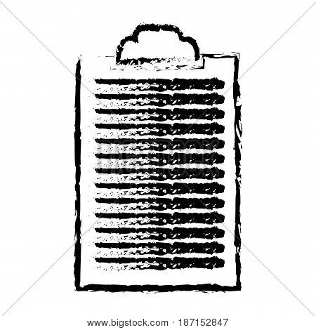 sketch clipboard paper document work vector illustration