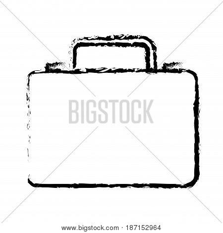 business suitcase portfolio document sketch vector illustration